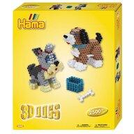 Hama - Set margele de calcat Catel 3D In cutie, 2500 buc Midi