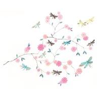 Djeco - Abtibilduri de perete Flori si libelule