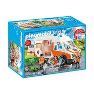 Playmobil - Ambulanta cu lumini intermitente