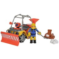 Simba - ATV  Fireman Sam, Sam Mercury Snow Quad cu lama de zapada, figurina Sam si accesorii