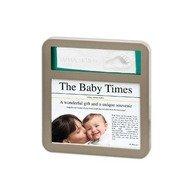 Baby Art Newsprint Frame Taupe & Azure