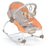 Baby Mix - Balansoar muzical cu vibratii 2 in 1 Beverly, Orange