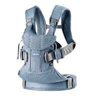 BabyBjorn - Marsupiu ergonomic One Air Pealy 3D Mesh , Protectie cap, Anatomic, 4, Albastru