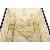 BabyNeeds - Lenjerie patut 5 piese 120x60 cm, Ursuleti colorati, Crem