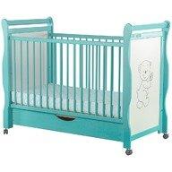 BabyNeeds - Patut din lemn Jas Ursulet 120x60 cm, cu sertar, Mint