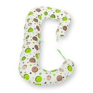 BabyNeeds - Perna 3 in 1 pentru gravide si bebelusi Soft, Bulinute verzi