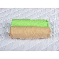 BabyNeeds - Set 2 cearceafuri cu elastic 140x70 cm, Cappuccino+Verde