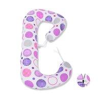 BabyNeeds - Perna 3 in 1 pentru gravide si bebelusi Soft Plus, Cerculete mov