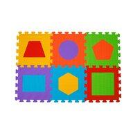 BabyOno - Puzzle pentru podea, figuri geometrice, 6 buc