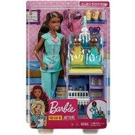 Mattel - Papusa Barbie Doctor pediatru, Verde