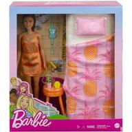 Mattel - Papusa Barbie , Cu accesorii dormitor