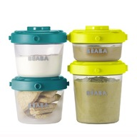 Beaba - Set 6 recipiente ermetice pentru hrana (2x60ml, 4x120ml)