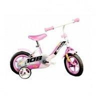 Dino Bikes - Bicicleta 108 FL cu maner pentru parinti 108, Roz