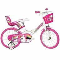 Dino Bikes - Bicicleta cu pedale 144R-UN , Unicorn, 14