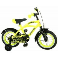 Volare - Bicicleta Cruiser pentru baieti, 12 inch, partial montata, Galben