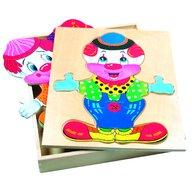 Bino - Puzzle copii din lemn, Imbraca-l pe Friedo
