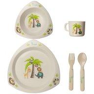 Bo Jungle - Set cina pentru bebelusi Prietenii Junglei in forma triunghiulara