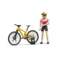 BRUDER - Figurina Ciclista , Cu bicicleta de munte