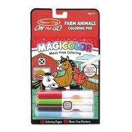 Melissa & Doug - Melissa and Doug carnetel de colorat magicolor animale de la ferma