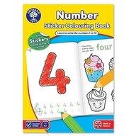 Orchard Toys - Carte de colorat cu activitati in limba engleza si abtibilduri Invata numerele Number