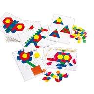 Edx Education - Set creativ Cartoane de lucru Mozaic Cu modele pentru forme geometrice
