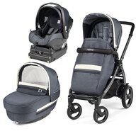 Peg Perego - Carucior 3 In 1, Book Plus 51 S, Titania, baza i-Size inclusa, Luxe Mirage