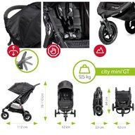 Baby Jogger - Carucior City Mini GT Sistem 2 in 1, Black