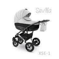 Camarelo - Carucior copii 2 in 1 Sevilla Xse-1, Gri/Negru