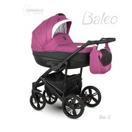 Camarelo - Carucior copii 3 in 1 Baleo 2019 Ba-2, Roz/Negru