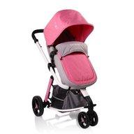 Cangaroo - Carucior copii 3 in 1 Sarah , Grey and Pink