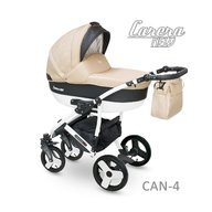 Camarelo - Carucior copii 3 in 1 Carera New Can-4, Bej