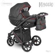 Camarelo - Carucior copii 3 in 1 Maggio Mg-1, Negru/Rosu