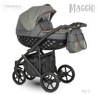 Camarelo - Carucior copii 3 in 1 Maggio Mg-2, Gri inchis/Maro