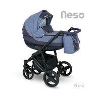 Camarelo - Carucior copii 3 in 1 Neso Ne-2, Albastru/Negru