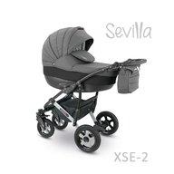 Camarelo - Carucior copii 3 in 1 Sevilla Xse-2, Gri inchis/Negru