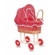 Egmont toys - Carucior pentru papusi , Cu husa cu buline, Rosu