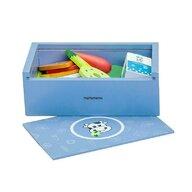 MamaMemo - Caserola pranz (lunchbox) de jucarie, albastra, din lemn,