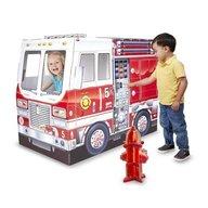 Melissa & Doug - Casuta din carton Camionul de pompieri