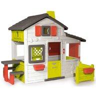 Smoby - Casuta pentru copii Friends Playhouse cu gradina
