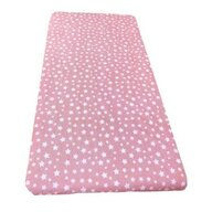 Deseda - Cearsaf cu elastic roata cu imprimeu Stelute pe roz-160*80 cm