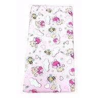 Deseda - Cearsaf cu elastic roata cu imprimeu Ursi cu albine pe roz-120*60 cm