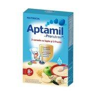 Nutricia - Cereale cu lapte Aptamil, 4 cereale si 3 fructe, 225g, 8 luni+