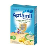 Nutricia - Cereale cu lapte Aptamil Porumb, orez si banane, 225g, 6luni+