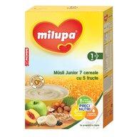 Milupa - Cereale fara lapte, Musli Jr 7 cereale cu 5 fructe, 250g, 12luni+