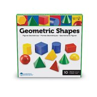 Learning Resources - Corpuri geometrice din plastic 10 piese