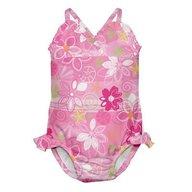 Iplay - Costum de baie fetita cu scutec inot integrat, 12 luni, SPF50+, Wild Flowers
