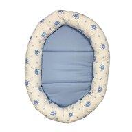 Deseda - Cuib baby nest bebelusi forma ovala Coronite albastre pe alb