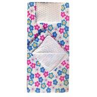 Deseda - Set 3 piese de iarna paturica cu cearsaf si pernuta pentru pat 120x60 cm, Floricele