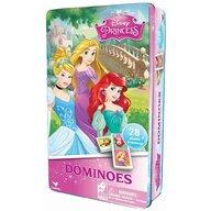 Spin Master - Domino Lumea printeselor Disney , In cutie de metal, piese 28, Multicolor