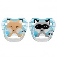 Dr. Brown's - Suzeta PreVent, imprimata Animal Face , 2pack, nivel 1(0-6 luni), baieti